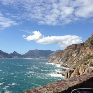 The spectacular scenery along Chapman's Peak Drive.