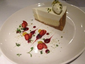 Azure's signature cheesecake.