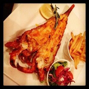 Beautiful crayfish dish at the Big Easy.