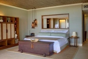 A Deluxe King Room at the St. Regis Mauritius