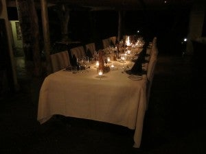 The dinner table was a welcoming sight!