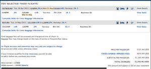 JFK to London for $1,395