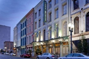 Exterior of the Country Inn & Suites By Carlson, New Orleans French Quarter.