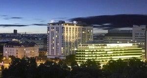 Exterior shot of the Hilton Vienna.