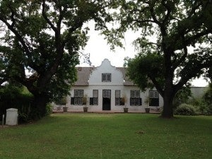 The beautiful centuries-old farmhouse at Hawksmoor House where I'm staying in wine country.