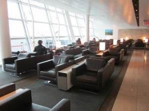 Lounge area at JFK.