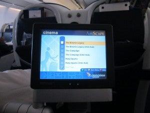 In flight entertainment.