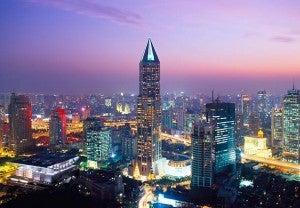 Exterior shot of the JW Marriott Hotel Shanghai.