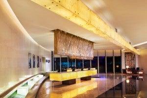 Lobby area at the Le Royal Meridien Shanghai.