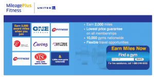 Join a gym through United's MileagePlus Fitness and you could earn 2,000 bonus miles.