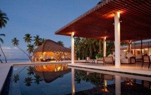 Dhoni Lounge at the Park Hyatt Maldives.