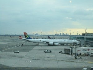 The South African Airways A340-600 I flew from JFK.