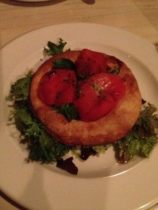 At Savoy we started with a delicious tomato tart.