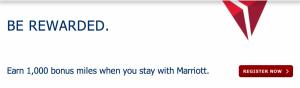 Earn 1,000 bonus SkyMiles with Marriott.