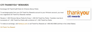 Redeem Citi Thank You Points for Hilton Hhonors.