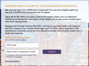 Registration is now open for SPG's Power Up Promotion.