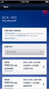 Fly Delta 2.0 lets passengers book flights right from the app.