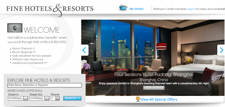 Image result for amex fine hotels and resorts