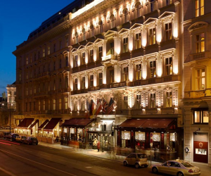 Exterior of the Hotel Sacher Wien.