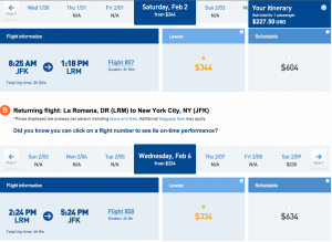 Take a trip to the Dominican Republic this weekend for $227.50!
