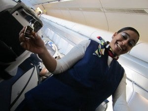 The friendly service started aboard our South African Airways flight.