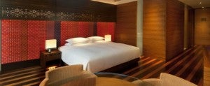 King guest room at the Andaz Shanghai.