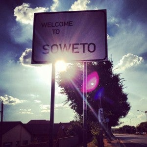 We also visited the township of Soweto.