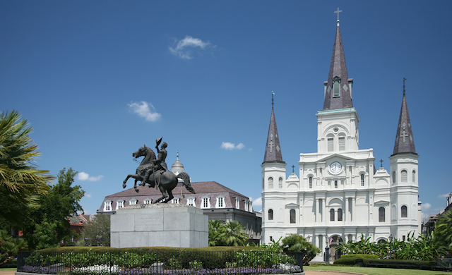 St. Louis Cathedral and Jackson Square.