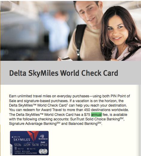 Maximizing the Delta Suntrust Debit CardThe Points Guy