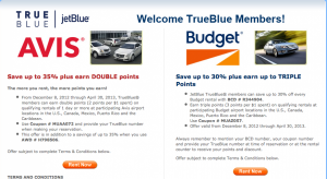 JetBlue is just one of several airlines offering bonus miles and discounts on car rentals at the moment.