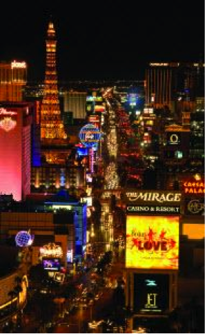 Looking south down the iconic Las Vegas Strip