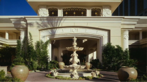 The palatial entrance to the Four Seasons Las Vegas.