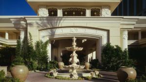 The palatial entrance to the Four Seasons Las Vegas.