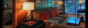 """A """"standard"""" suite at THEhotel at Mandalay Bay."""
