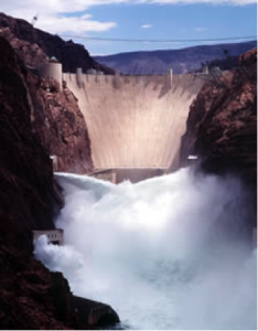 Consider taking a trip to the enormous Hoover Dam, spanning the border between Nevada and Arizona.
