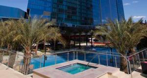 The pool area at Elara.