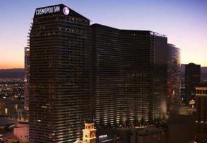 The imposing façade of the Cosmopolitan.