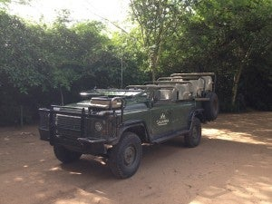 We went out on two drives a day in this Land Rover.