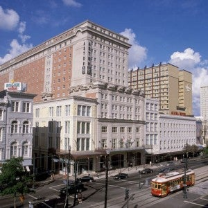 Exterior of the Crowne Plaza New Orleans French Quarter.