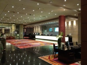 The lobby of the Westin Cape Town
