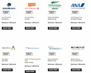 Amex Membership Rewards has 16 airline transfer partners including Delta, British Airways, Air Canada and Singapore Airlines
