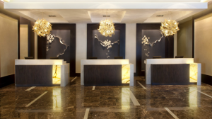 Guest reception area at the Hyatt Regency New Orleans.