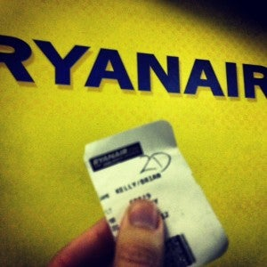 My Ryanair boarding pass.