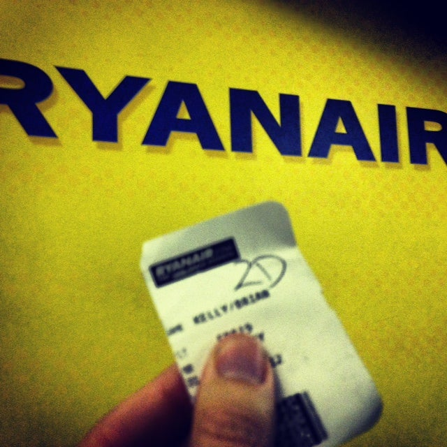 My Ryanair boarding pass.