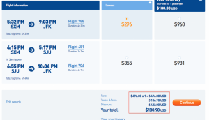 It doesn't get much cheaper for fares to the Caribbean this time of year!