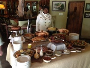 A typical lunch spread at Savanna.