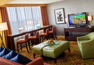 Concierge lounge at the New Orleans Marriott.
