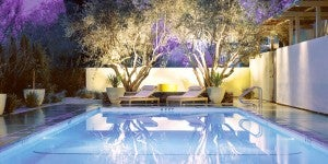 Take a dip in the outdoor pool at the Hotel Healdsburg in Napa Valley.