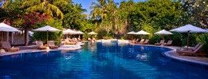 Pool area at the Sheraton Maldives.