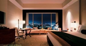 A room at the Conrad Tokyo will soon cost you up to 95,000 points for a free night.